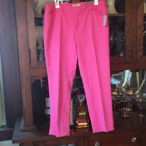 Gap new with tags slim cropped pants in pink